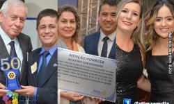 VEJAS AS FOTOS DAS HOMENAGENS E COMEMORAÇÃO DOS 50 ANOS DO ROTARY CLUB DE FÁTIMA DO SUL