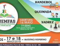 Prefeitura de Fátima do Sul abre Jogos Escolares de 2018 nesta quarta-feira
