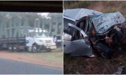 Colisão entre carro e caminhão mata motorista na MS-276 entre Lagoa Bonita e Deodápolis