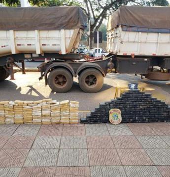 Operação da PF na fronteira prende traficantes e apreende mais de 250kg de cocaína