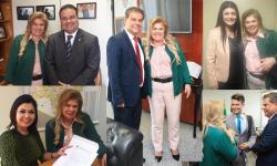 Prefeita Ilda Machado percorre gabinetes em Brasília em busca de recursos para Fátima do Sul