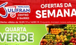 Confira as ofertas da semana e da Quarta Verde do Mercado Julifran de Fátima do Sul