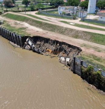 Porto Murtinho entra em situação de emergência por conta de erosão em barragem