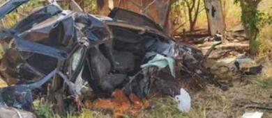 Motorista fica em estado grave após colidir carro em árvore na MS-162