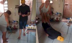 Mulher faz marido de pano de chão em MS e vídeo explode na internet