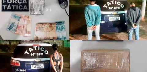 Dois rapazes e uma jovem são flagrados com maconha, cocaína e crack na Rodoviária de Fátima do Sul