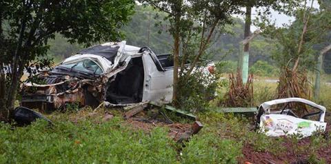 Engenheiro Civil sofre grave acidente entre Fátima do Sul e Vicentina, fratura perna e passará por cirurgia