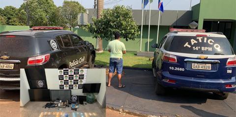 Comerciante acusado de receptação e tráfico de drogas é preso em Fátima do Sul
