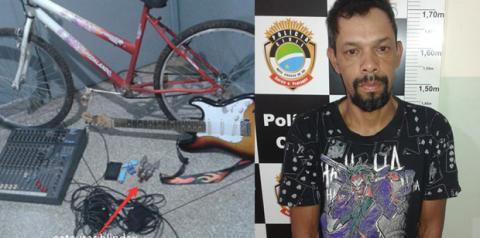 Homem furta objetos de igreja avaliados em R$ 8 mil e é preso em flagrante em Fátima do Sul