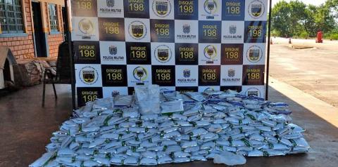 Homem é flagrado com meia tonelada de agrotóxicos contrabandeados do PY para ser vendido em Fátima do Sul