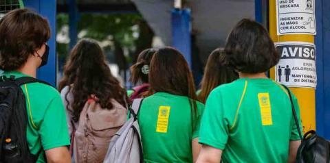 No último bimestre letivo, alunos da rede estadual retornam 100% às salas em MS