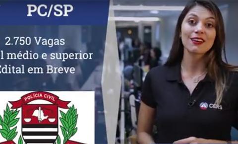 Concurso para Polícia Civil de São Paulo tem 2.750 vagas e salários de até R$ 10 mil
