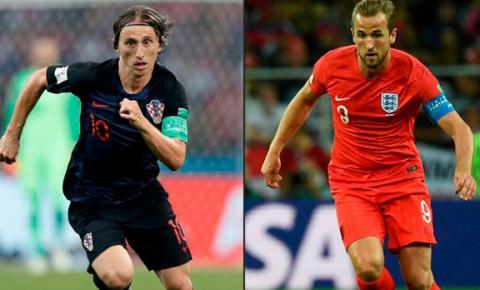 Inglaterra e Croácia disputam hoje a segunda vaga na final da Copa