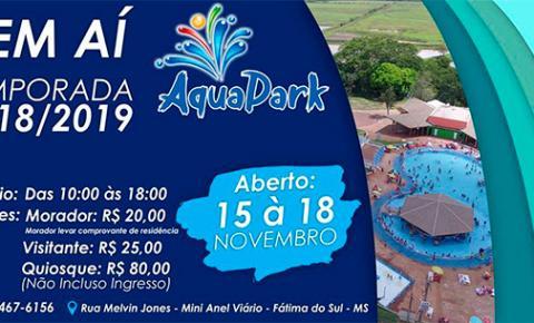 Prefeitura de Fátima do Sul abre Aqua Park no feriadão prolongado do dia 15