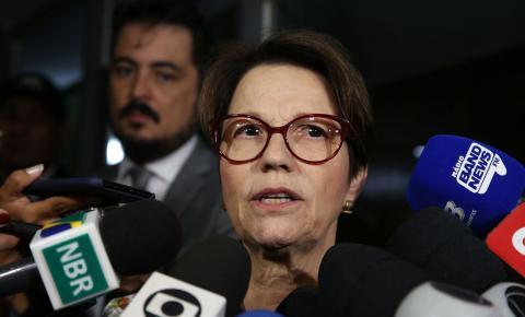 Tereza Cristina quer defender propriedade e frear