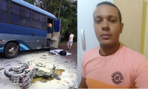 Morador em Culturama morre em acidente envolvendo moto e ônibus na MS-376