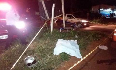 Motociclista morre em colisão com ônibus em trevo da MS-156 em Dourados