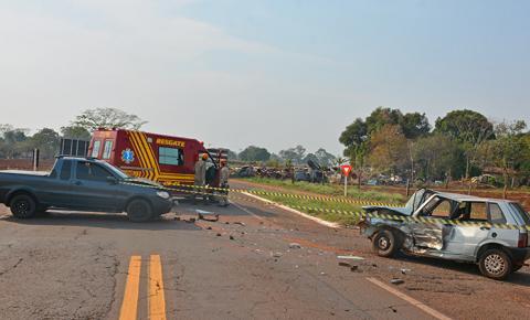 Acidente mata homem na BR-376, no trevo de acesso ao Distrito de Culturama