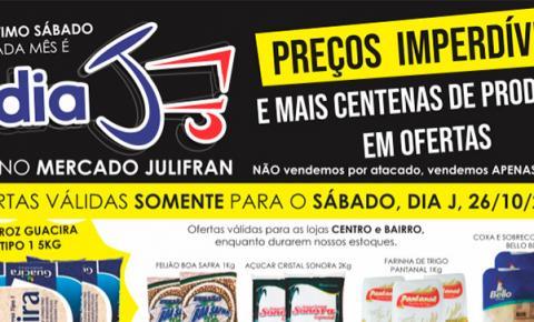 Sábado de Dia 'J' com várias promoções no Mercado Julifran em Fátima do Sul. CONFIRA