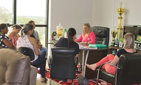 Prefeita Ilda Machado reúne-se com coordenadoras de CEIMs de Fátima do Sul