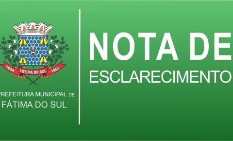 Prefeitura de Fátima do Sul vai acionar a Justiça contra notícia falsa e exigirá retratação dos responsáveis