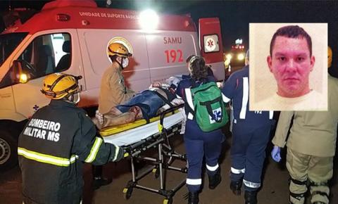 Agente penitenciário filho de professor em Culturama morre após bater carro em caminhão no Anel Viário em Dourados