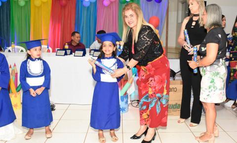 Escola Municipal Favo de Mel – CAIC de Fátima do Sul realiza formatura de alunos da pré-escola