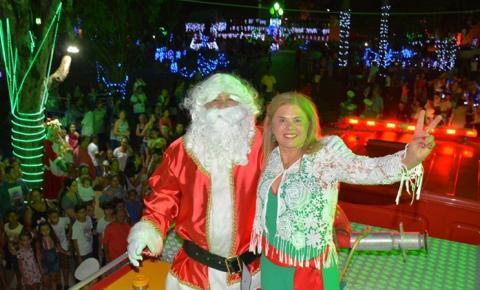 Prefeita Ilda Machado convida população para a chegada do Papai Noel neste sábado em Fátima do Sul