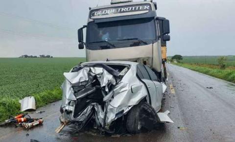 Motorista morre após colisão frontal na MS-316 em MS