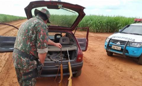 PMA prende três caçadores que se dirigiam para caçada ilegal em Angélica