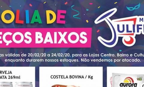 É Carnaval! Mercado Julifran de Fátima do Sul está em Folia de Preços Baixos