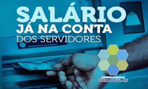 ESTÁ NA CONTA: Prefeitura de Fátima do Sul paga salário de março e pede que servidor evite fila e aglomerações em bancos