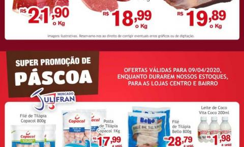 Mercado Julifran, repleto de ofertas na Quinta da Carne e para sua Páscoa