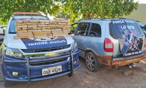 Casal é preso com 59 quilos de maconha escondida em compartimento secreto do carro na Cohab de Fátima do Sul