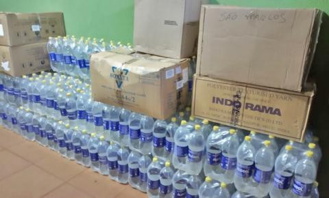 Prefeitura de Fátima do Sul recebe doação de álcool do SESI-MS