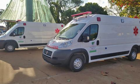 Na semana do aniversário, Prefeitura de Fátima do Sul adquire duas novas ambulâncias 'Semi UTI'