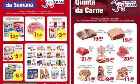 No aniversário de Fátima do Sul, Mercado Julifran abre até às 12h com várias ofertas inclusive da 'Semana' e da 'Quinta da Carne'