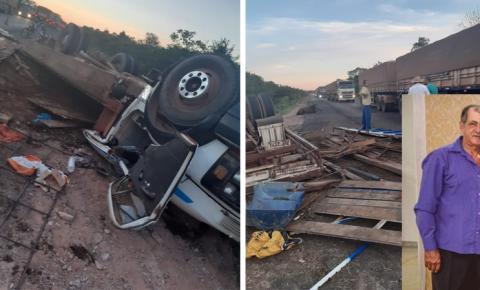 Morador em Fátima do Sul, Jorjão do Mané Pedro, morre em acidente na BR-163 no Pará