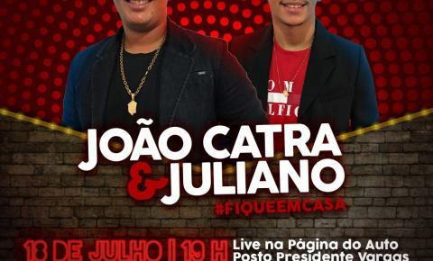 Dupla João Catra e Juliano fazem live neste sábado em Fátima do Sul