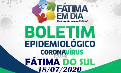 Fátima do Sul registra neste sábado, 07 novos casos da Covid-19, 03 pacientes estão internados