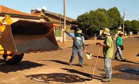 Prefeitura intensifica Operação 'Tapa Buracos' em diversos pontos da cidade de Fátima do Sul
