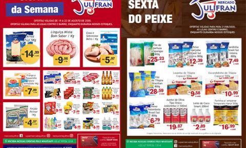 INFORME PUBLICITÁRIO: Confira as Ofertas da Semana e da Sexta do Peixe do Mercado Julifran de Fátima do Sul