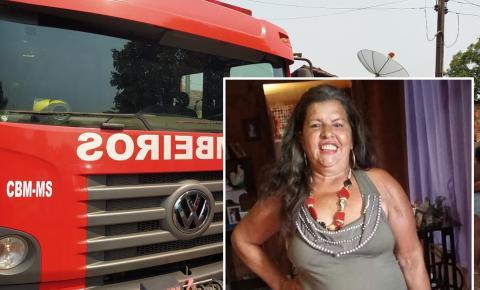 Funcionária pública de 58 anos é a vítima do incêndio em residência em Fátima do Sul