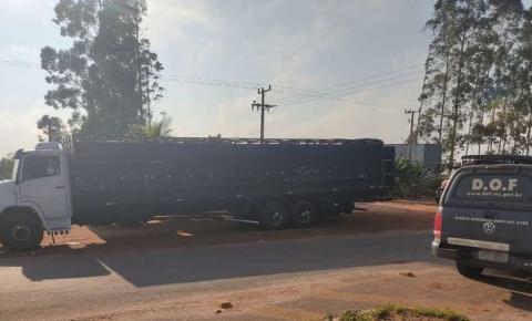 Caminhões com 120 bovinos trazidos ilegalmente do Paraguai são apreendidos em MS