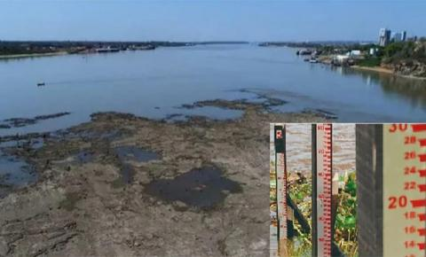 Nível cai ainda mais e Rio Paraguai enfrenta uma das secas mais severas em 110 anos