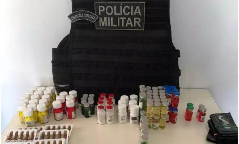Mulher é presa com frascos e ampolas de anabolizante na calcinha em Ponta Porã