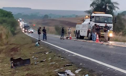 Acidente entre Caarapó e Juti matou casal e deixou criança ferida