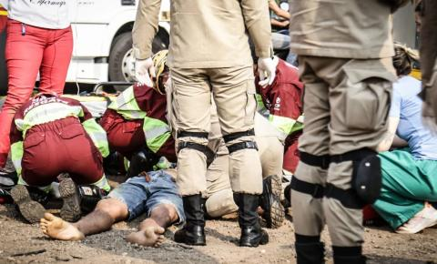 Ciclista morre após ser atropelado e arremessado por caminhoneiro na BR-163 em Campo Grande
