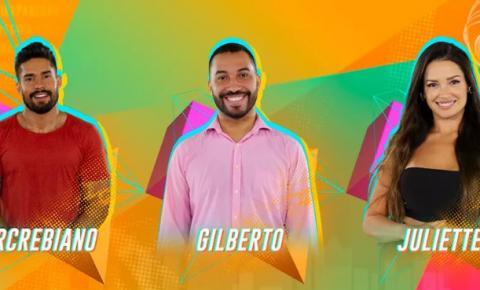 Arcrebiano, Gilberto e Juliette formam 2º paredão no 'BBB21'