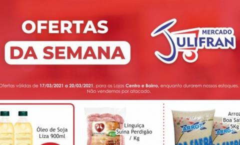 INFORME PUBLICITÁRIO: Confira as ofertas da semana e da Quarta Verde do Mercado Julifran de Fátima do Sul